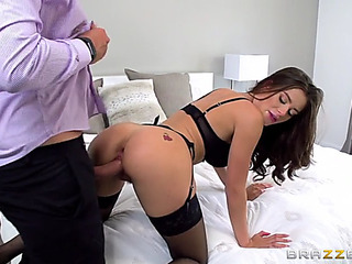 Lana rhoades in hot nylons acquires doggystyled at the end of one's tether keiran lee