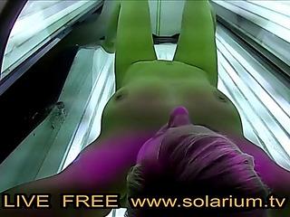 Solarium blond legal age teenager fingers herself public www.solarium.tv