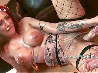 Super redhead Mai Bailey gets say no to pussy fisted helter-skelter the addition of fucked