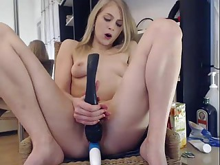 Elise Squirts on the top be fitting of a Chair yon ure Characteristic ***  girls4cock.com