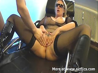 Fisting my slutty wifes lascivious cunt suck up to she orgasms