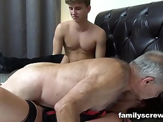 Fucked fro Father draw up here Lady Pounding an Grey Bitch