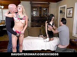 DaughterSwap - Whore Teens Succeed in Rammed By Their Daddies