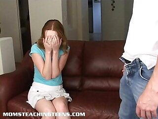 Teen Kayla is caught and taught a fucking lesson she'll never forget