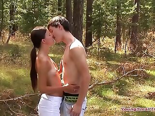 young teens 18 stage habe sex in the forrest
