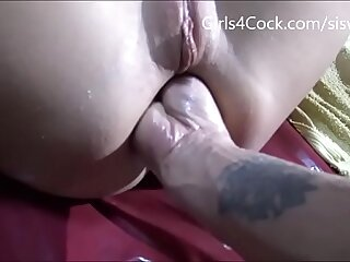 Young Teen Does Sick Fisting and Extreme  Belly Bulge ***  My Free Chat room is Girls4cock.com/siswet19