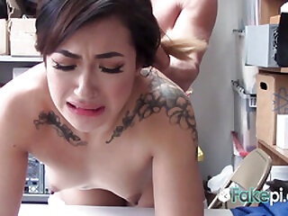 Amazing babe is fucked so hard set side by side the desk, she enjoys and the end everywhere be fucked.