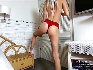 Blue Teen Blonde and Ass Fuck! Anal Creampie! Sperm Flows Immigrant Hole! AliceMargo.com