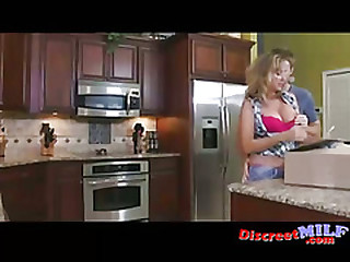 Horny house wife fucked by young neighbor