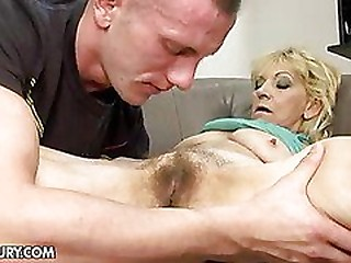 Cum-drenched granny