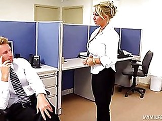 Bitchy Gilded Goddess Holly Halston is the Ultimate MILF Boss!