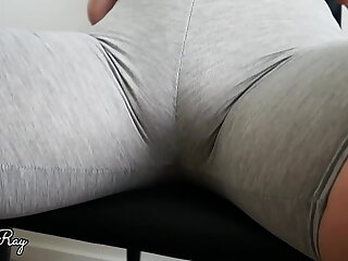 She Just Loves Getting Creampie in Her Workout Pants