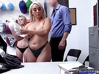 MILF And Her Teen Stepdaughter Fucked By Security Guard