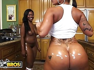 Two black bitches with big asses